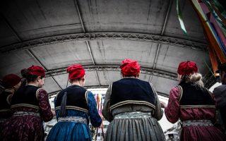 folk-dancers-celebrate-carnival-in-downtown-athens