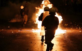 six-arrested-as-police-protesters-clash-in-athens