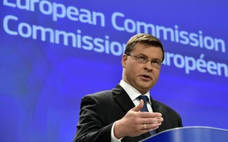 greece-on-track-with-fiscal-targets-eu-amp-8217-s-dombrovskis-says