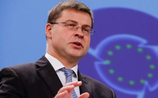 greece-must-meet-bailout-goals-amid-refugee-crisis-dombrovskis-says