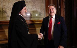archbishop-of-america-meets-greek-fm