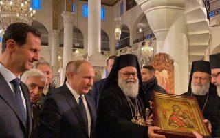 putin-assad-visit-greek-orthodox-church-in-damascus