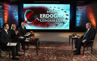 erdogan-uses-map-to-indicate-where-turkey-plans-drilling-off-crete