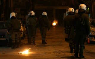 car-torched-as-youths-police-clash-in-exarchia