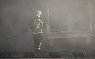 docked-ship-in-drapetsona-catches-fire