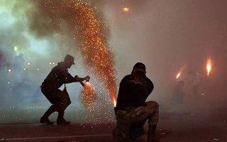 stray-flare-kills-cameraman-filming-easter-tradition-in-kalamata