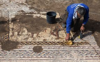 israeli-archaeologists-unearth-1-800-year-old-mosaic-also-featuring-greek-inscription