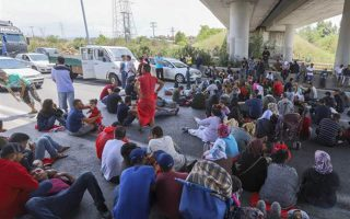 refugees-block-national-highway-to-protest-living-conditions