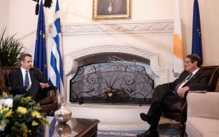 mitsotakis-in-nicosia-for-trilateral-summit
