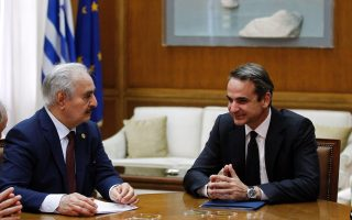 haftar-amp-8217-s-meeting-with-mitsotakis-ends-without-statements
