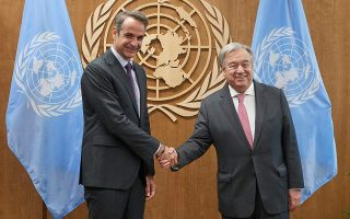 mitsotakis-guterres-discuss-cyprus-climate-change