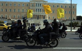 delivery-courier-workers-hold-motorcade-through-athens