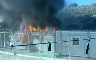 migrants-set-fires-to-protest-transfer-to-reception-center-from-hotels