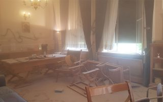 assailants-attack-athens-university-rector-trash-his-office