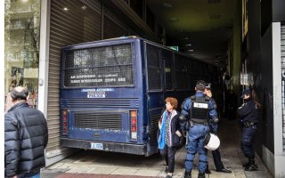 police-bus-enlisted-to-protect-notaries-from-protesters