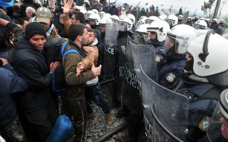 iraqi-syrian-refugees-block-other-migrants-protest