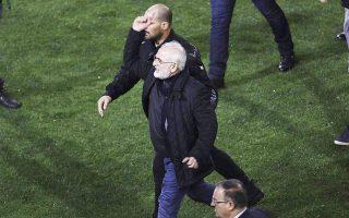 soccer-league-suspended-as-police-seek-gun-carrying-paok-boss