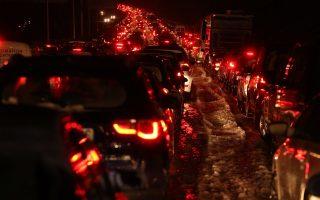 closure-of-athens-lamia-highway-causes-huge-traffic-jams