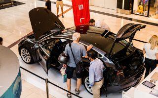 tesla-model-3-cars-on-display-at-golden-hall