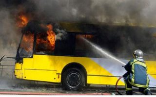 three-trolley-buses-torched-in-downtown-athens