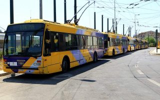 athens-trolley-buses-holding-work-stoppage