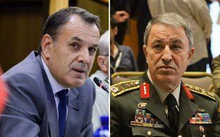 greek-turkish-defense-ministers-speak-briefly-on-telephone