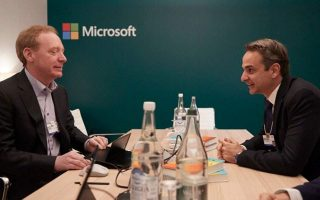 pm-meets-microsoft-president-at-company-amp-8217-s-pavilion-in-davos