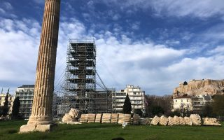 first-scaffolding-up-for-olympeion-s-restoration0