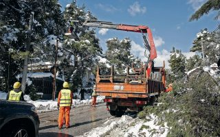 about-8-000-households-in-attica-still-without-power-after-winter-storm