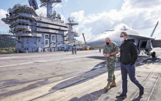 pm-welcomed-aboard-us-aircraft-carrier-eisenhower