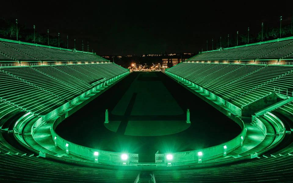 panathenaic-stadium-turns-green-ahead-of-st-patrick-s-day1