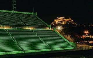 panathenaic-stadium-turns-green-ahead-of-st-patrick-s-day