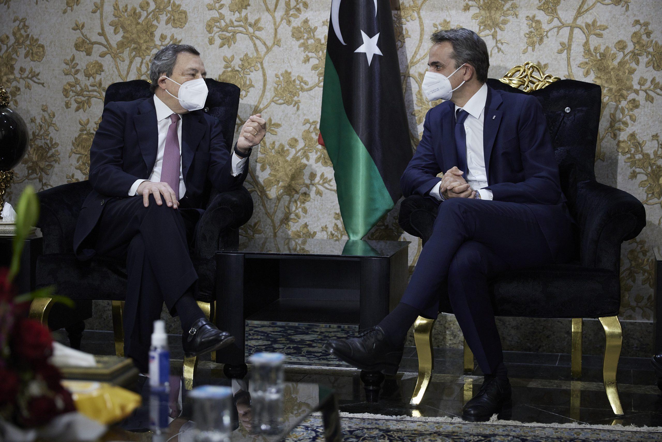 Mitsotakis, Draghi discuss EU efforts to stabilize Libya on sideline of Tripoli visit | eKathimerini.com