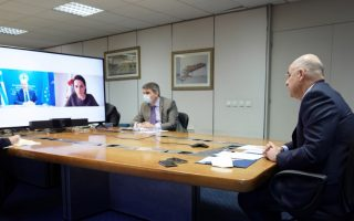 dendias-holds-video-call-with-exiled-belarus-opposition-leader