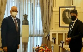 dendias-discusses-collaboration-middle-east-with-french-ambassador