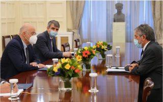 dendias-meets-palestinian-envoy-amid-escalating-violence-in-israel-palestinian-conflict