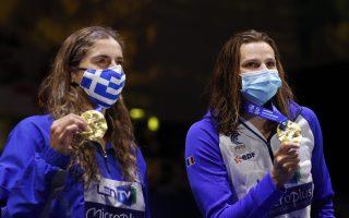 greece-amp-8217-s-anna-doudounaki-wins-gold-at-the-european-aquatics-championships