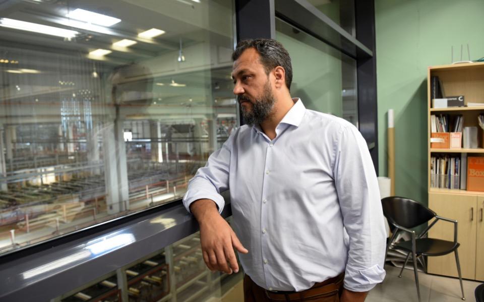 Yannis Kantonias, vice president of Cosmos Aluminium, looks at the factory's facilities in Larissa, Greece, July 8, 2021. Picture taken July 8, 2021. Alexandros Avramidis/Reuters