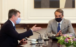 mitsotakis-hosts-meeting-with-eurogroup-president
