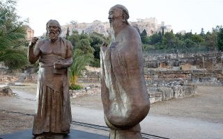 statues-of-socrates-and-confucius-unveiled-at-the-ancient-agora